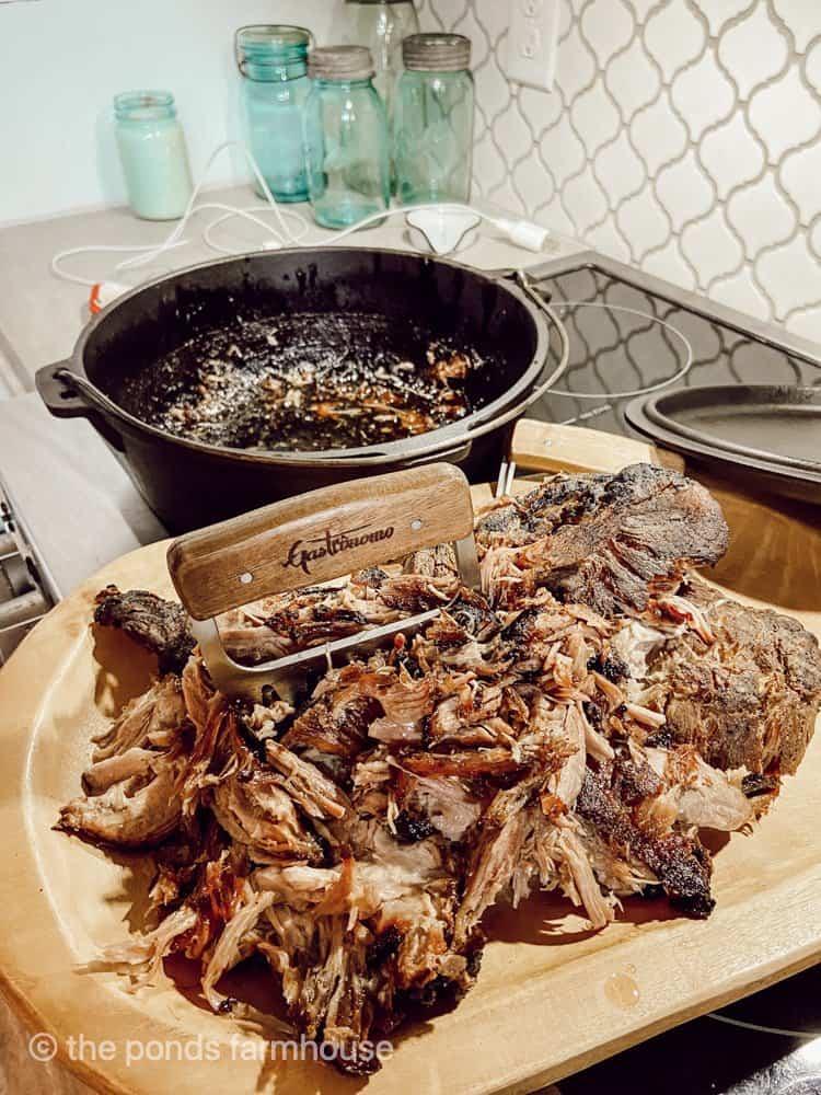 Cast Iron Dutch Oven Pulled Pork Recipe