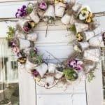 Terra Cotta Pot Spring Wreath-Easy DIY