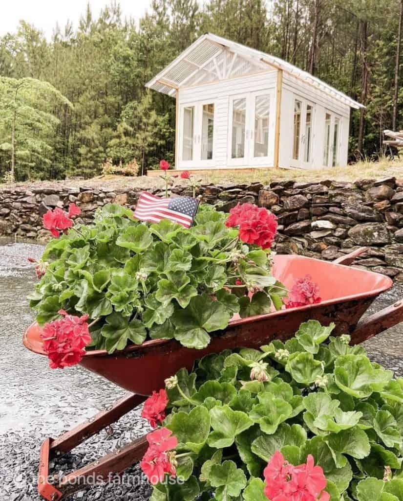 DIY Greenhouse She Shed