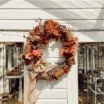 DIY Fall Wreath - Easy Rusted Tin Can Craft